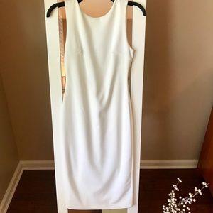 Lulu's So Stunning White Backless Midi Dress